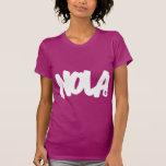 Letras de NOLA Playeras