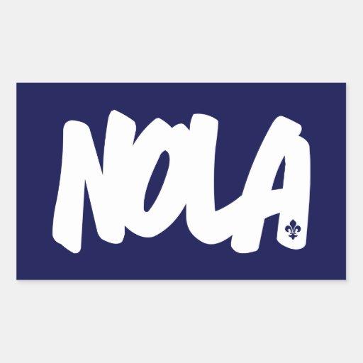 Letras de NOLA Rectangular Pegatinas