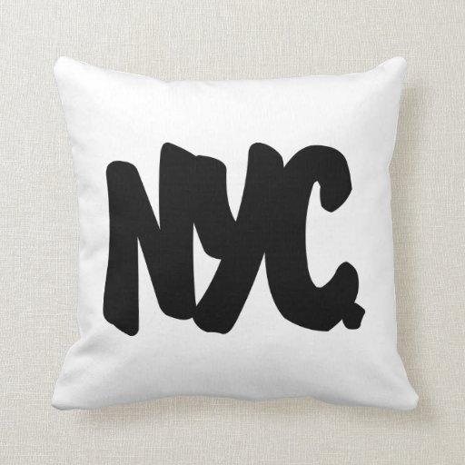 Letras de NYC Cojín Decorativo