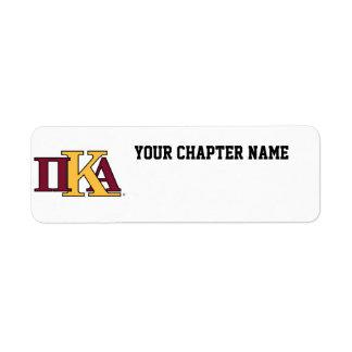 Letras de PKA Etiquetas De Remite