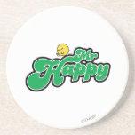 Letras de Sr. Happy Sliding Down Green Posavasos Cerveza