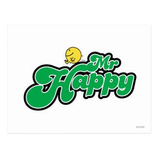 Letras de Sr. Happy Sliding Down Green Postal