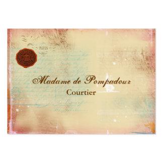 Letras de tarjetas de visita elegantes de la escri