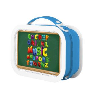 Letras del alfabeto para la caja del almuerzo de Y