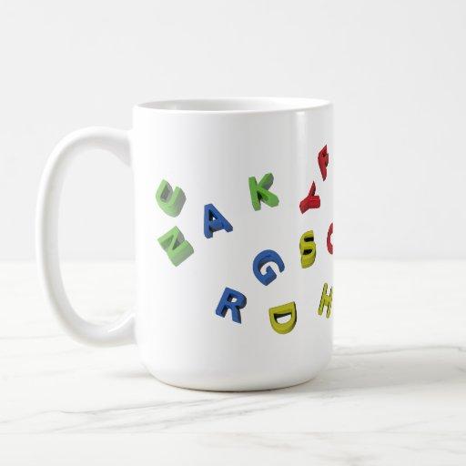 Letras del alfabeto taza