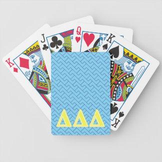 Letras del amarillo del delta del delta del delta baraja de cartas