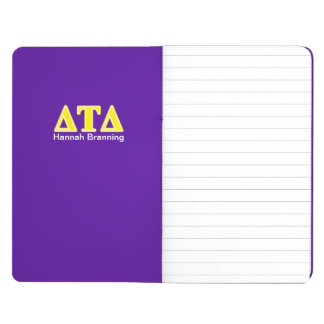 Letras del amarillo del delta del Tau del delta Cuadernos Grapados