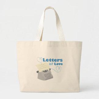 Letras del amor bolsa tela grande