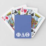Letras del azul blanco y real de la theta del baraja cartas de poker