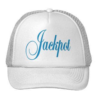 Letras del azul del casquillo del bote gorras de camionero