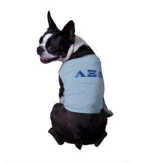 Letras del azul del delta de la alfa XI Playera Sin Mangas Para Perro
