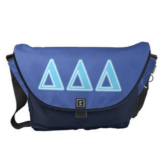 Letras del azul del delta del delta del delta bolsas messenger