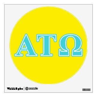 Letras del azul del Tau Omega de la alfa