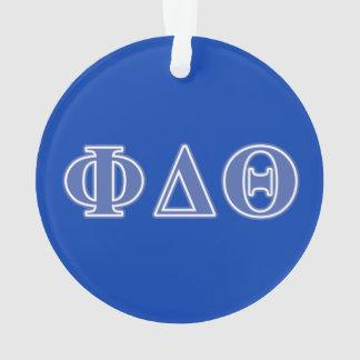 Letras del azul real de la theta del delta de la