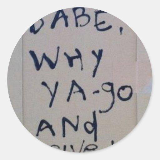 letras del barro del bebé del bebé… por SLUDGEart Pegatina Redonda