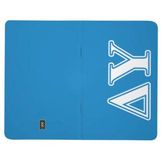 Letras del blanco de Upsilon del delta y del azul Cuadernos Grapados