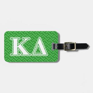 Letras del blanco del delta de Kappa Etiqueta De Maleta