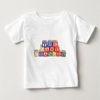 Letras del bloque hueco del cambiador del juego camiseta