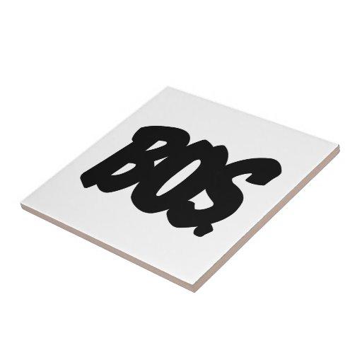 Letras del BOS Azulejo Cuadrado Pequeño