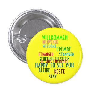 Letras del cabaret de Willkommen Pin Redondo 2,5 Cm