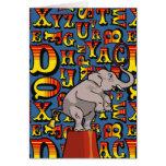 Letras del circo, tarjeta