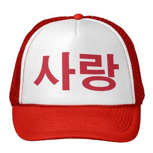 Letras del coreano del amor gorro de camionero
