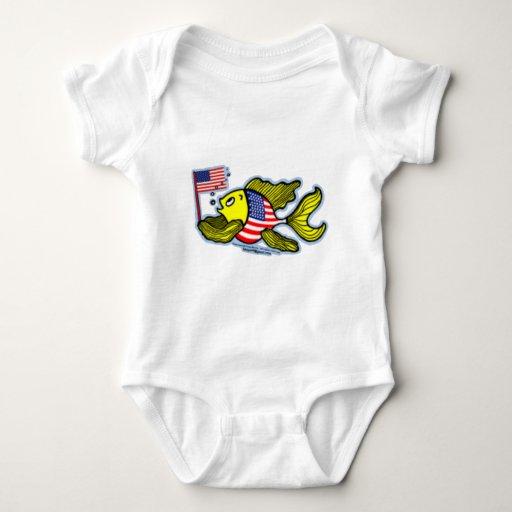 letras del Día de la Independencia Body Para Bebé