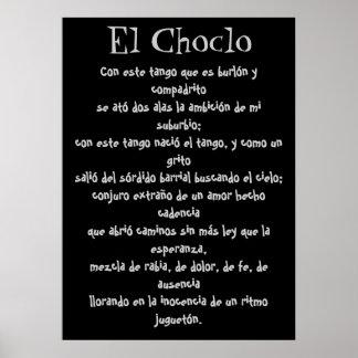 Letras del EL Choclo Póster