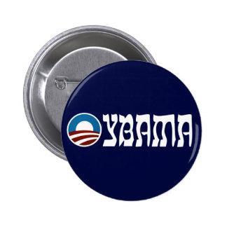 letras del hebreo del oybama de obama pin redondo de 2 pulgadas