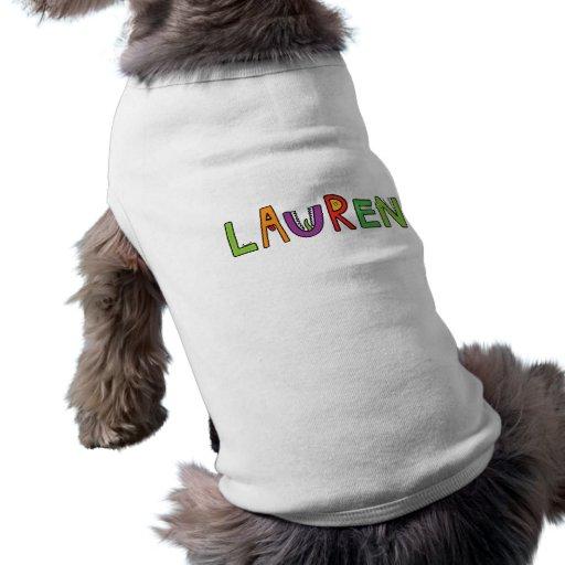 """Letras del monstruo de """"Lauren"""" Camisa De Perrito"""