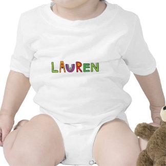 """Letras del monstruo de """"Lauren"""" Camisetas"""
