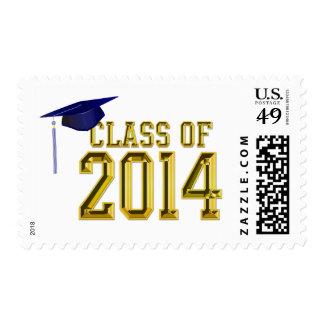 Letras del oro y clase del casquillo de la graduac