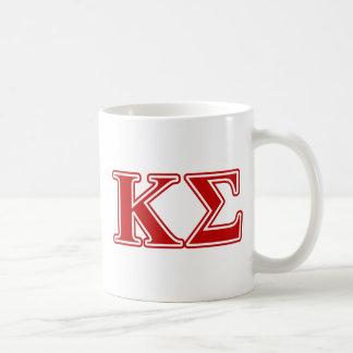 Letras del rojo de la sigma de Kappa Taza De Café