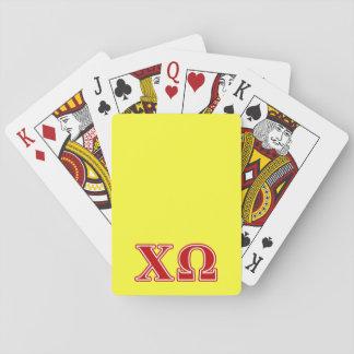 Letras del rojo de Omega de la ji Cartas De Póquer