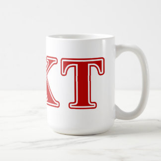 Letras del rojo del Tau de Kappa de la phi Taza Clásica