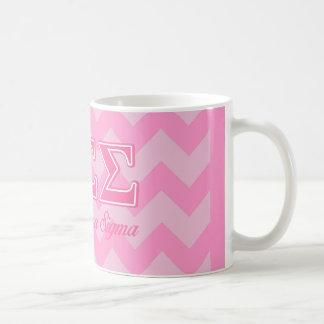 Letras del rosa de la sigma de la sigma de la taza de café
