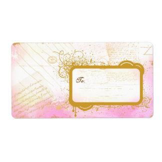 Letras del rosa de París y de etiquetas grandes de Etiquetas De Envío