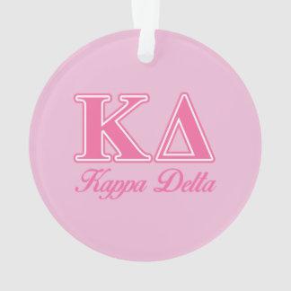 Letras del rosa del delta de Kappa