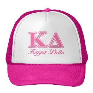 Letras del rosa del delta de Kappa Gorro De Camionero
