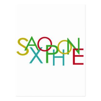 Letras del SAXOFÓN Tarjetas Postales
