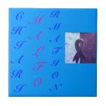 Letras del Scrabble Azulejos