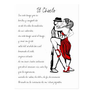 Letras del tango del EL Choclo Postal