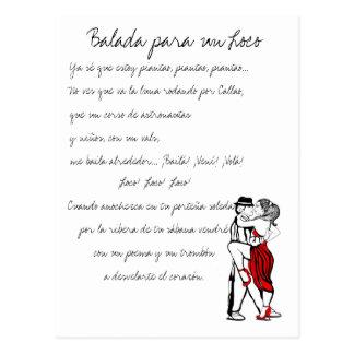 Letras del tango del loco de la O.N.U de Balada Postales