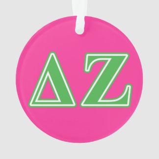 Letras del verde de la zeta del delta