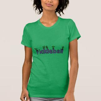 Letras divertidas de Pickleball con las salmueras Camiseta