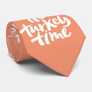 Letras divertidas del tiempo de Turquía de la cena Corbatas Personalizadas