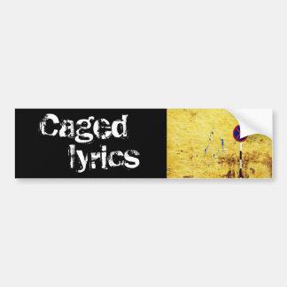 letras enjauladas pegatina de parachoque