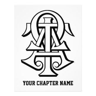 Letras entrelazadas Omega del Tau de la alfa Flyer Personalizado