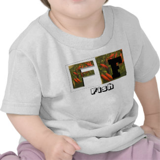 Letras - F - pescados, pescados Camisetas