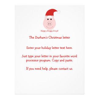 Letras felices del navidad de los días de Hoggy Tarjeton